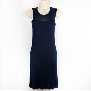INC International Concepts Navy Sheer Mini Dress